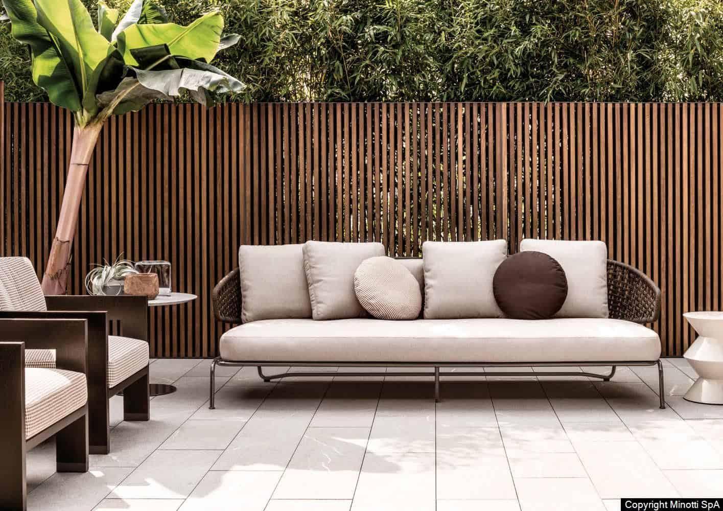 Мебели за външни условия Minotti